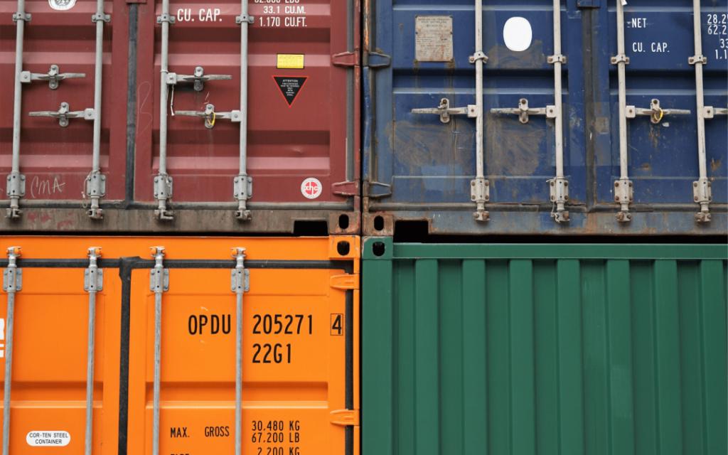 oversikt over forskjellige typer containere
