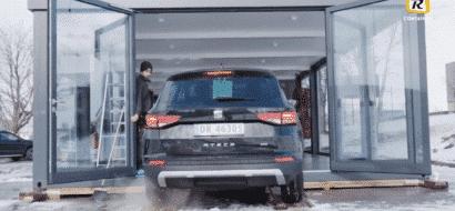 Film: Levering av showroom for bil