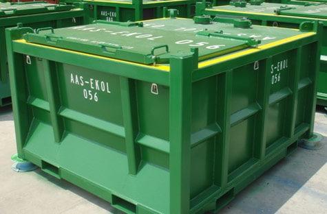 2.2m Lukket Offshore Avfall Skip PLT-370