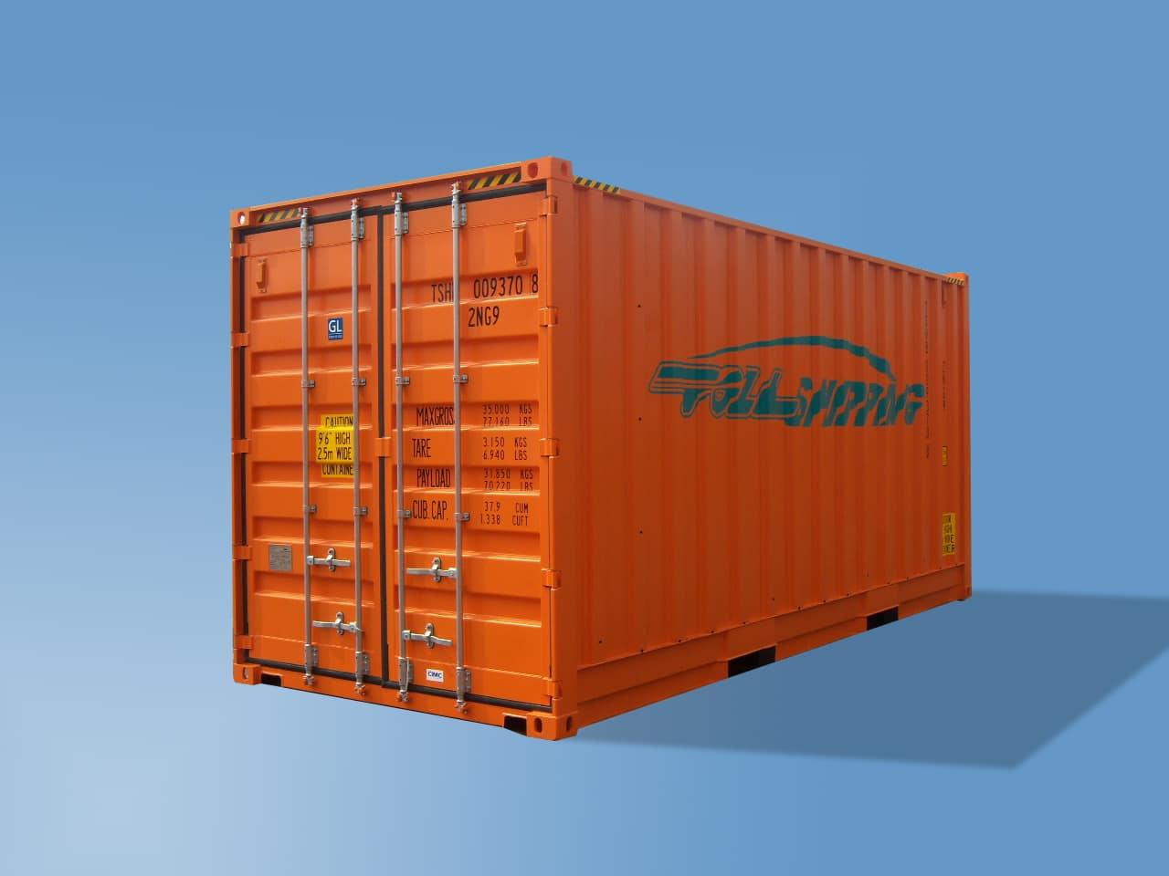 20′ Bulkcontainer med Jevn Vegg