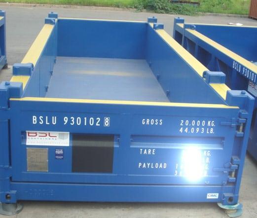 20′ Halvhøy Åpen Topp Container 20T PLT-329