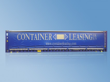 45′ Gardinsidecontainer