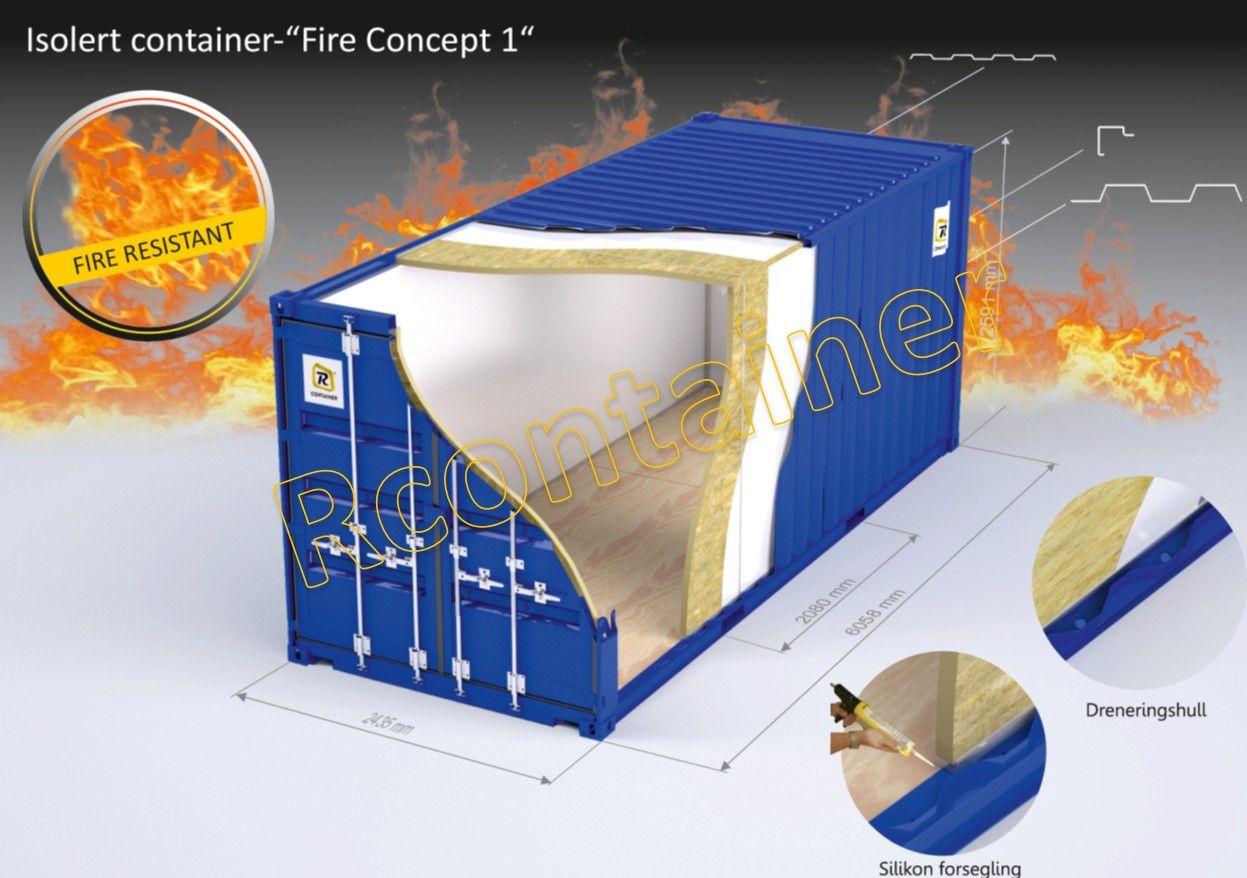 20 ft. brannisolert container