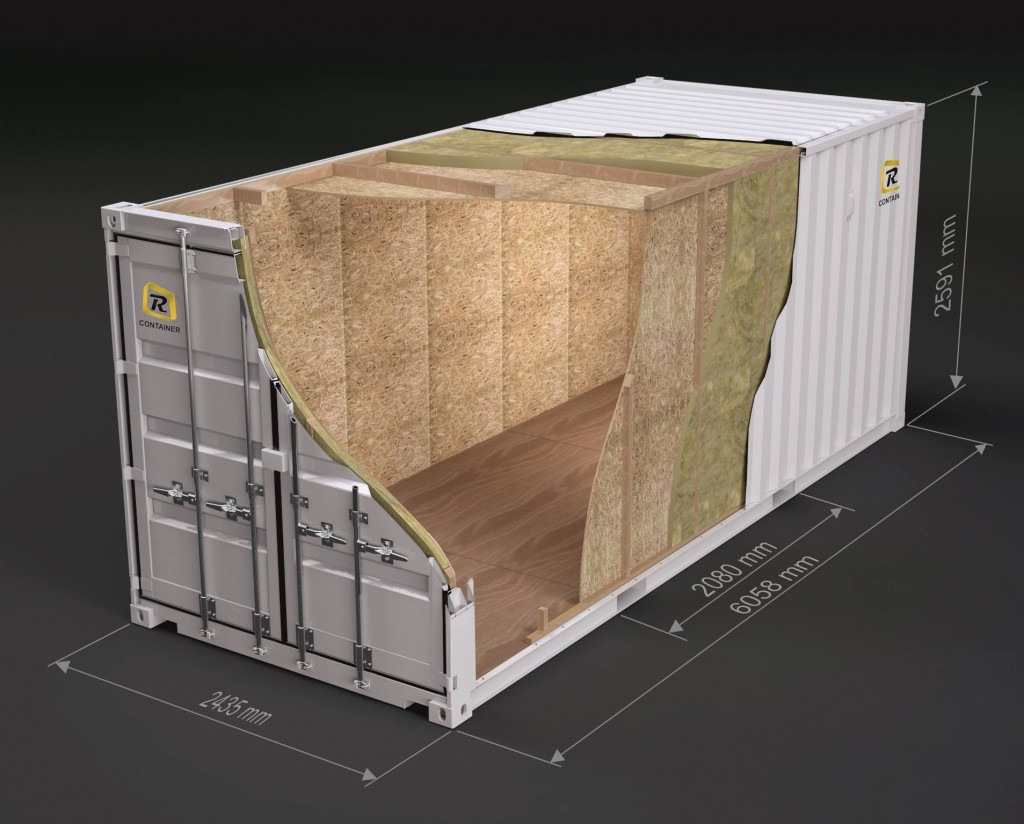 20 ft. OSB isolert container