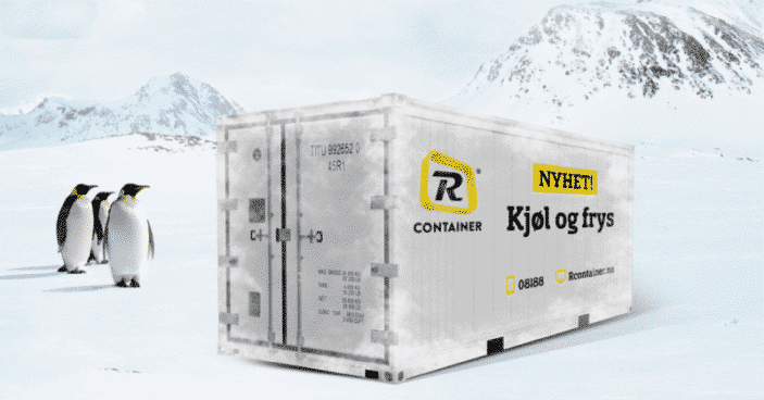 kjølecontainer frysecontainer