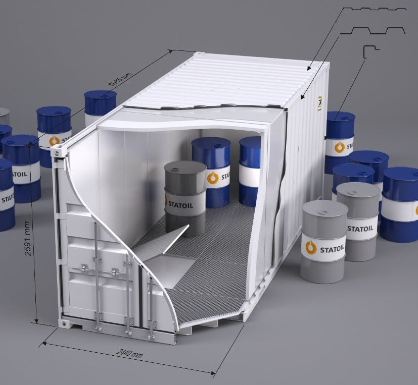 20 ft. Standard miljøcontainer