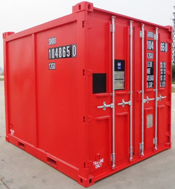 10ft Flat Panel Container