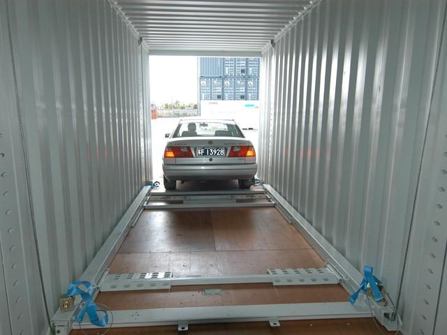 Trans-Rack Biltransportvogn container