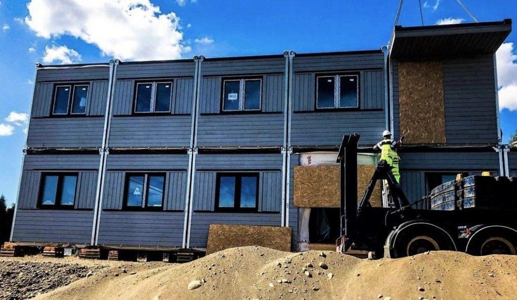 anleggs brakker og midlertidige bygg for byggeplasser