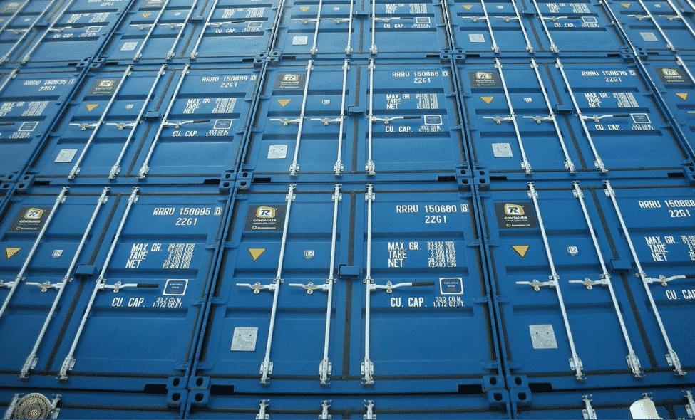 merker på containeren