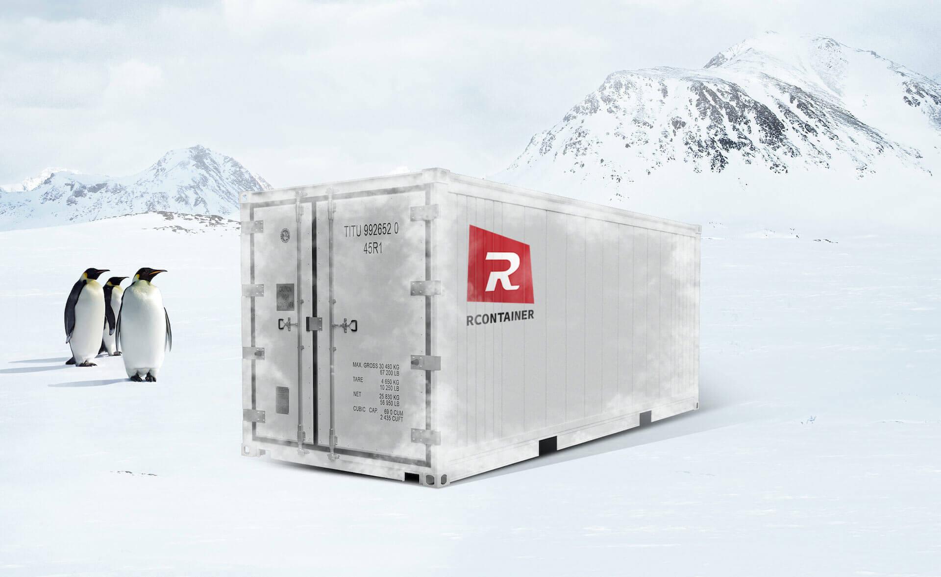 Standard kjøl/frys/varme-container