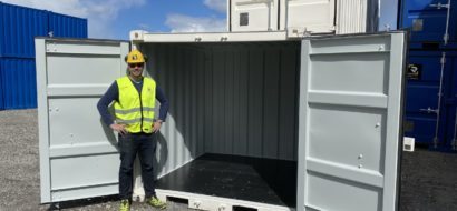 8 ft. shipping container