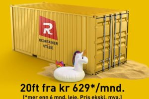 Nyheter fra Rcontainer® 12. august
